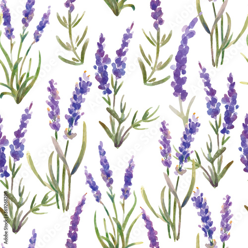 Tapeta fioletowa  vector-illustration-seamless-pattern-of-lavender-flowers-watercolor-painting
