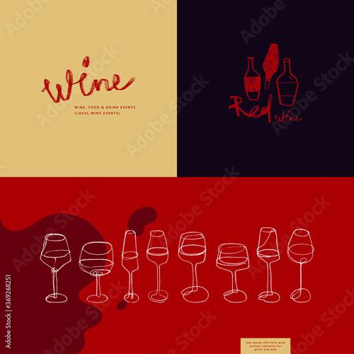 Obraz na plátne Winehouse symbol and winery insignia