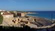 Roman Amphitheater in Tarragona, next to the Mediterranean sea in Costa Dorada, Catalonia, Spain.