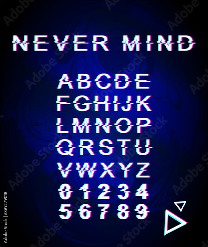 Never mind font template Canvas Print