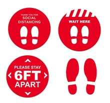Covid Floor Decals Stickers Ma...