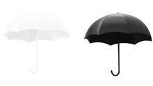 Vector Illustration Of A Black And White Umbrella