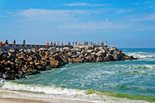 People At The Breakwater, Barr...