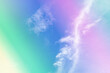 canvas print picture - Beautiful pastel sky in many colors