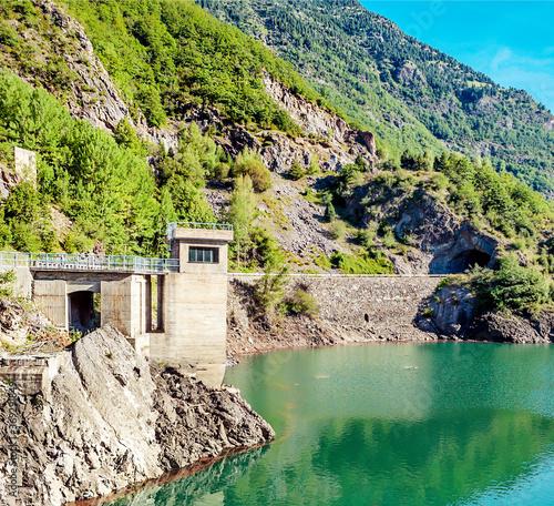 Lake in the pyrenees mountain