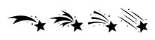 Falling Stars Set Icon Meteori...