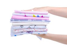 Stack Baby Cotton Diapers In H...