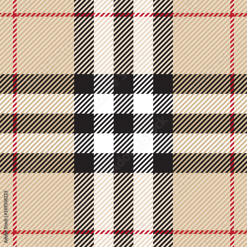 Tapeta beżowa  vintage-tartan-texture-seamless-pattern-traditional-scottish-checkered-plaid-ornament-coloured-geometric-intersecting-striped-vector-illustration-seamless-fabric-texture-large-stripes