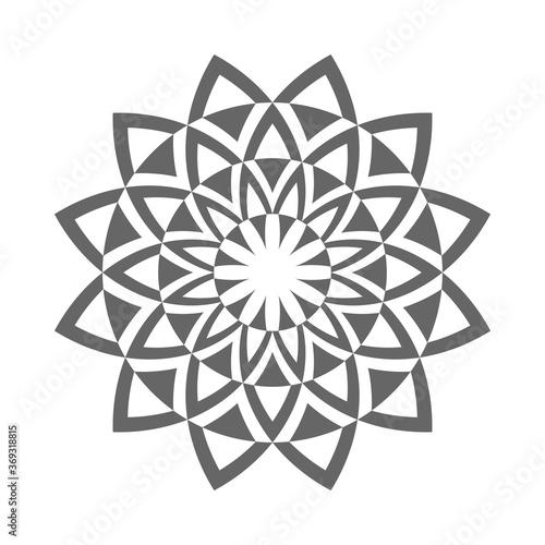 Fotografie, Obraz Abstract decorative circle design element.