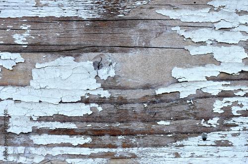 Obraz na plátně Biała farba odpryskująca z deski