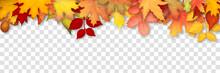 Autumn Frame With Colorful Lea...