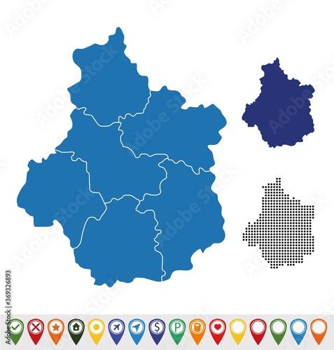 Obraz Set maps of Centre-Val de Loire - fototapety do salonu