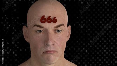 666 Mark of the Beast Canvas Print