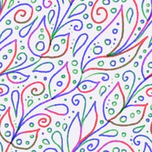 Hand-drawn Colorful Abstract F...