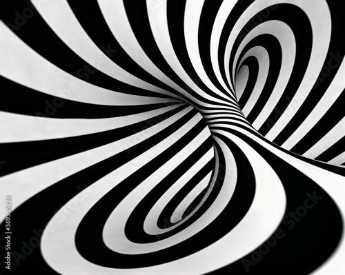 Fototapety, obrazy: black and white swirl