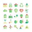 Ecology icon set vector flat for website, mobile app, presentation, social media. Suitable for user interface and user experience.