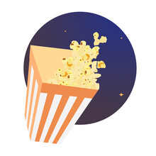 Paper Cup With Popcorn