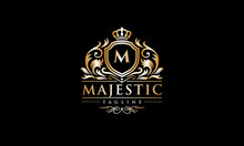 Majestic Logo - Luxury Monogram - Royal Initial Letter Crest Template