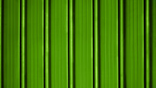 Bright Green Painted Shutter Or Roller Blind.