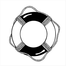Life Ring, Hand Drawn Isolated...