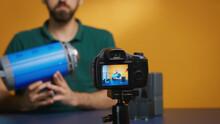 Filmmaker Recording Opinion Ab...