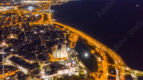 city of Palma de Mallorca at night