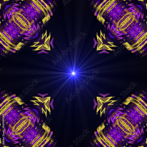 Photo psychedelic Supernova Shiny star patterns Modern stylish texture.