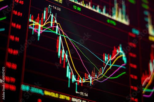 Stock market securities trading data background Fototapet