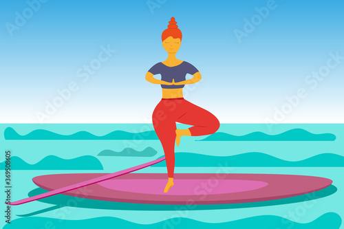 SUP Yoga Wallpaper Mural
