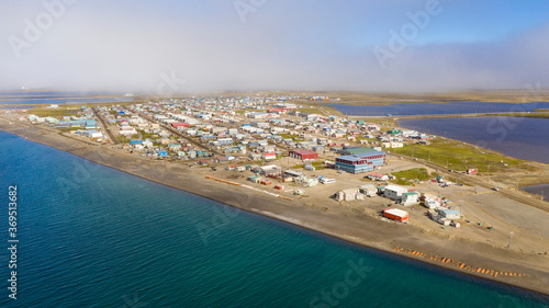Canvas Print The Fog is lifting in Barrow Alaska now called Utqiagvik AK