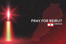 Pray For Beirut Banner With Re...