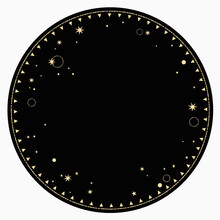 Round End Frame With Gold Star...