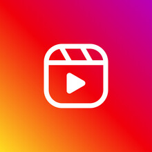 Instagram Reel Icon Isolated On Background. Social Media Video Content Symbol Modern Simple Vector Icon For Website Design, Mobile App, Ui. Vector Illustration