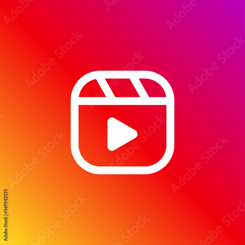 Tablou Canvas Instagram reel icon isolated on background