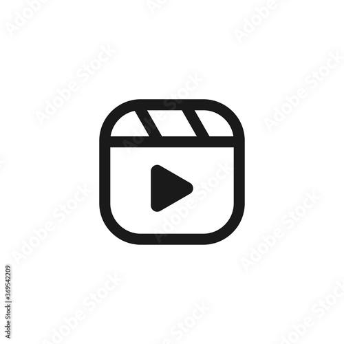 Tablou Canvas Instagram reel icon. Vector Illustration