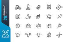 Minimal Farming Icon Set