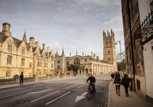 Architecture And Buildings Around The University Town Of Oxfordshire In England