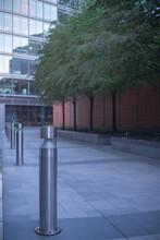Metal Bollard On Walkway On Pe...