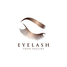 Luxury Eyelash Glamour Logo. V...