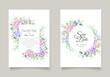elegant watercolor hydrangea invitation card