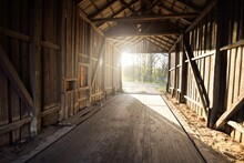 An Old Abandoned Rustic Wooden...