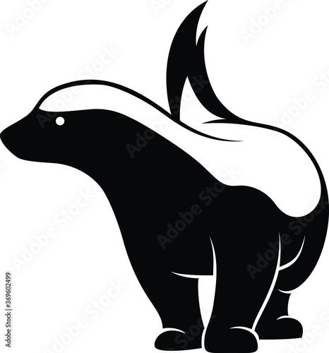 Photo Simple Design of Honey Badger