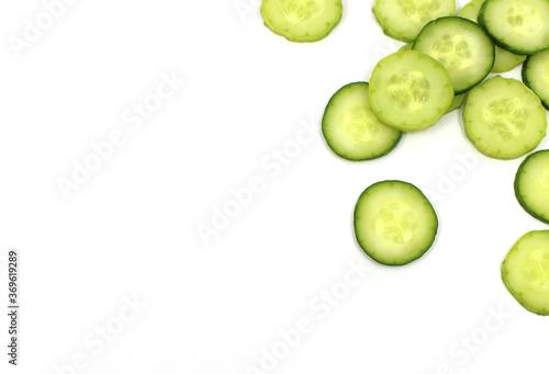 Fototapeta cucumber on white background obraz