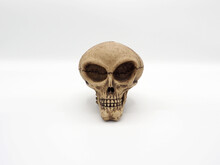 Alien Skull Toy Model Which Made From Plastic Racin By Hand