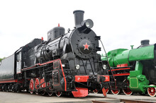 Soviet Steam Locomotive Of The First Half Of The 19th Century Series Er In The Museum Of Railway Engineering