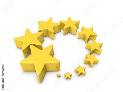 大小の星のオブジェの集合体 Canvas-taulu
