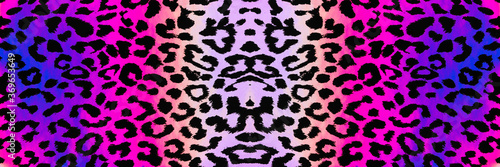 Abstract seamless background banner of black and purple animal print Fototapet