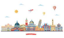 Italy Detailed Skylines. Vecto...