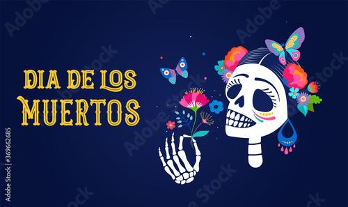 Cuadros en Lienzo Dia de los muertos, Day of the dead, Mexican holiday, festival