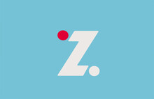 Blue White Red Z Alphabet Letter Logo Icon. Simple Design For Business And Company